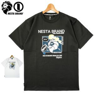 ネスタブランド 2021 吸汗速乾 クルーネック 半袖 Tシャツ アメコミ グラフィック 212NB1019 NESTA BRAND メール便発送  21SS トップス ファッション JUN1|golf-thirdwave