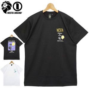 ネスタブランド 2021 クルーネック 半袖 Tシャツ 212NB1028 ドローイングライオン カラーロゴ NESTA BRAND メール便発送  21SS トップス ファッション JUN3|golf-thirdwave
