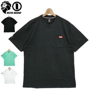 メール便発送 ネスタブランド 2021 コットン クルーネック 半袖 胸ポケット Tシャツ ドロップショルダー 99NB1001 NESTA BRAND 21SS トップス ファッション MAR|golf-thirdwave