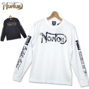 Norton メンズ 長袖 Tシャツ 吸汗速乾 クルーネック 193N1112 日本国内加工 ノートン TEE 春夏秋 19FW %off|golf-thirdwave