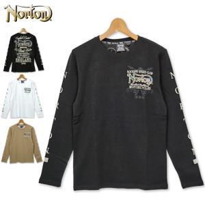 Norton メンズ 長袖 Tシャツ クルーネック 201N1101 ノートン TEE 春夏秋 20SS|golf-thirdwave