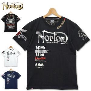 メール便発送 ノートン クルーネック 半袖 Tシャツ ロゴ刺繍 202N1000 Norton 春夏 20SS メンズ ファッション|golf-thirdwave