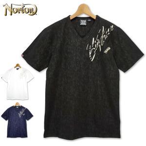 メール便発送 ノートン 吸汗速乾 Vネック 半袖 Tシャツ 202N1012 Norton 春夏 20SS 半そで シャツ ウェア トップス Tee メンズ ファッション|golf-thirdwave