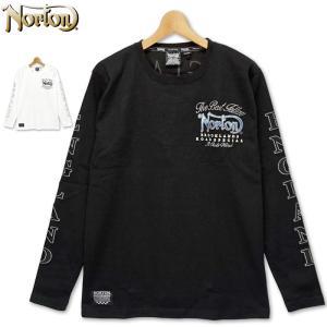 ノートン クルーネック 長袖 Tシャツ 203N1108 Norton ブルースチール柄 20FW 長そで メンズ ファッション|golf-thirdwave
