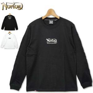 ノートン クルーネック 長袖 コットン Tシャツ 203N1109 Norton アーム エンボス 20FW 長そで メンズ ファッション|golf-thirdwave