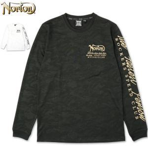 ノートン クルーネック 長袖 Tシャツ 203N1115 Norton カモ総柄 20FW 長そで メンズ ファッション|golf-thirdwave