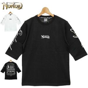 ノートン 2021 6分袖 コットン クルーネック Tシャツ ラメ刺繍 211N1106 Norton メール便発送  21SS 半そで シャツ ウェア トップス Tee メンズ ファッション|golf-thirdwave