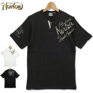 ノートン 2021 半袖 サーマル ヘンリー Yネック Tシャツ 212N1018 Norton  21SS 半そで シャツ ウェア トップス Tee メンズ ファッション MAR1|golf-thirdwave