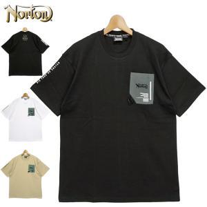 ノートン 2021 吸汗速乾 半袖 ドロップショルダー 胸ポケット クルーネック Tシャツ 212N1025 Norton メール便発送  21SS 半そで Tee メンズ ファッション|golf-thirdwave