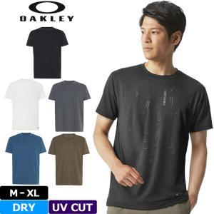 オークリー Oakley メンズ 半袖 Tシャツ Qd18 Veil SS Tee 434261 18FW シャツ エンハンス クルー スポーツウェア メール便発送|golf-thirdwave