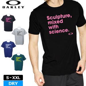 オークリー Oakley メンズ 半袖 Tシャツ ENHANCE SLANT 457852JP 19SS テニス テニスウェア メール便発送|golf-thirdwave