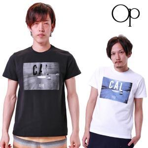 メール便発送OK OP オーシャンパシフィック メンズ CALプリント半袖 Tシャツ 518509 18SS OCEAN PACIFIC ウェア マリン スポーツウェア 半そでシャツ|golf-thirdwave