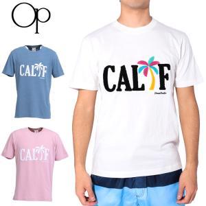 メール便発送OK OP オーシャンパシフィック メンズ 半袖Tシャツ CALIFロゴ 518513 17SS OCEAN PACIFIC ウェア マリン スポーツウェア 半そでシャツ JUN2|golf-thirdwave