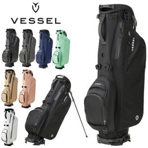 VESSEL ベゼル スタンドバッグ 7.5型 LITE Stand Single/Double Strap 7530218  19SS スタンド式 ゴルフ用バッグ キャディバッグ JUL1 JUL2|golf-thirdwave