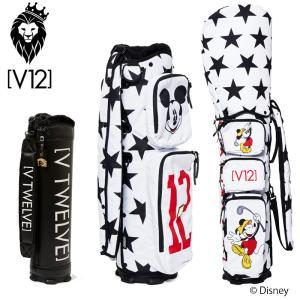 V12 ゴルフ 2021 8.5型 キャディバッグ セット MICKEY STAR V122111-CV01L 本体 V121900-BS02L ヴィ・トゥエルヴ  21SS ミッキー スター 着せ替え GOLF APR1|golf-thirdwave