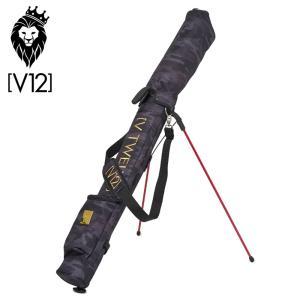 V12 ゴルフ 2021 セルフスタンドキャリーバッグ VT BLK CAMO SELF BAG V122111-SC02 BLACK ヴィ・トゥエルヴ  21SS 迷彩 カモ V12GOLF JUN3|golf-thirdwave