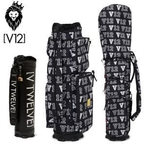 V12 ゴルフ 2021 8.5型 キャディバッグ セット LIVERY V122120-CV03L BLACK 本体 V121900-BS02L ヴィ・トゥエルヴ  21FW 着せ替え ラップテック GOLF AUG3|golf-thirdwave