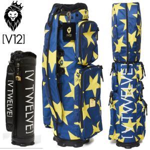 V12 ゴルフ キャディバッグ 8.5型セット STAR Blue カバー/V121920-CV02L_75(Blue)+本体V121800-BS01L 19SS|golf-thirdwave