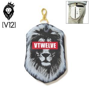 V12 ゴルフ ポーチ LION POUCH V122010-BG24_19 BLACK ヴィ・トゥエルヴ 20SS ライオン GOLF|golf-thirdwave
