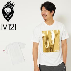 V12 ゴルフ メンズ 半袖 Tシャツ SQUARE T-SHIRTS V122011-TS01_02 WHITE ヴィ・トゥエルヴ 20SS 半そで トップス おしゃれ ブランド GOLF ゴールド|golf-thirdwave