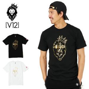 V12 ゴルフ メンズ 半袖 Tシャツ ONE HAND LION V122011-TS02 ヴィ・トゥエルヴ 20SS 半そで トップス おしゃれ ブランド V12 GOLF ゴールド|golf-thirdwave