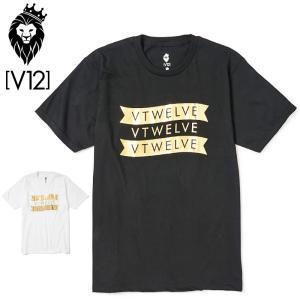 V12 ゴルフ メンズ 半袖 Tシャツ GOLD FLAG V122011-TS05 ヴィ・トゥエルヴ 20SS 半そで トップス おしゃれ ブランド V12 GOLF ゴールド|golf-thirdwave