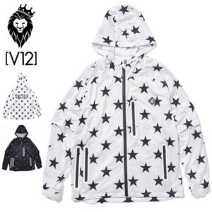 V12 ゴルフ ヴィ・トゥエルヴ 2021 メンズ 高耐水圧 レインジャケット ALL STAR RAIN JKT V122110-JK02  21SS レインウェア V12 GOLF STAR スター MAR1|golf-thirdwave