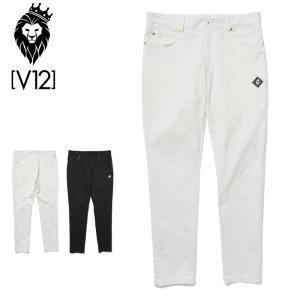 V12 ゴルフ 2021 メンズ ロングパンツ STAR EMBROIDERY PANTS V122110-PN01 ヴィ・トゥエルヴ  21SS ゴルフウェア ボトムス スター GOLF MAY3|golf-thirdwave