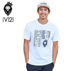 V12 ゴルフウェア メンズ 半袖 Tシャツ JULIAN V121911-TS01 02/WHITE 19SS PRO FACE|golf-thirdwave