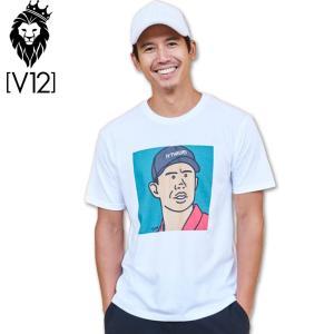 V12 ゴルフウェア メンズ 半袖 Tシャツ TORA V121911-TS02 02/WHITE 19SS PRO FACE|golf-thirdwave