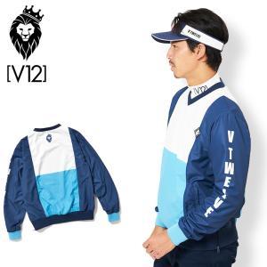 V12 ゴルフウェア メンズ 長袖 ジャケット V121920-JK03 SWITCH JACK 75/BLUE 19FW|golf-thirdwave