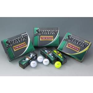 ダンロップ SRIXON スリクソン TRI STAR トライスター ゴルフボール 1ダース