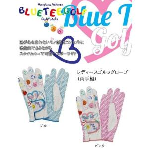 BLUE TEE  ブルーティーゴルフ レディース 両手用 ゴルフグローブ  ※クリックポスト(全国...