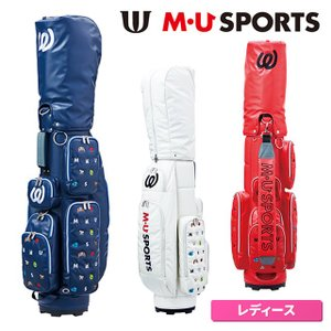 MU SPORTS ゴルフ 703W6106 軽量キャディバッグ モノグラム柄 エムユー スポーツ 【レディース】【即日出荷】|golfaholics