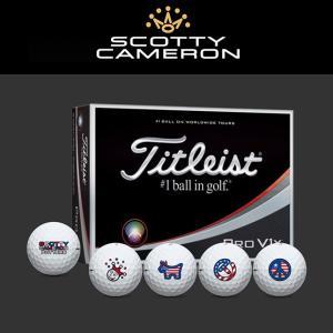 スコッティキャメロン 限定 USフラッグ ロゴボール タイトリスト ProV1x ゴルフボール  2017 1ダース|golfaholics