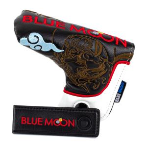 ブルームーン パターカバー 風神雷神 ブレード型 フィドロック付き(FID LOCK) ブラック|golfers