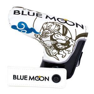 ブルームーン パターカバー 風神雷神 ブレード型 フィドロック付き(FID LOCK) ホワイト|golfers