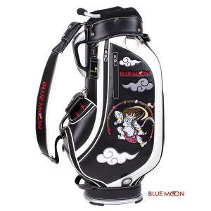 ブルームーン キャディバッグ 2021年モデル 風神雷神 C13-BMF ブラック  9型 ゴルフバッグ|golfers