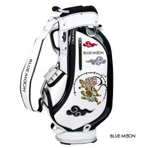 ブルームーン キャディバッグ 2021年モデル 風神雷神 C13-BMF ホワイト  9型|golfers