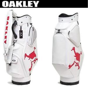 オークリー SKULL GOLF BAG 14.0 FOS900201(106) キャディバッグ 2020年モデル WHITE/RED golfers