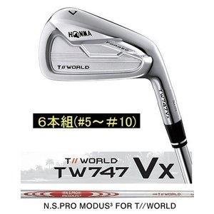 ホンマ TOUR WORLD TW747 VX アイアン 6本組 Modus3 for T//Wor...