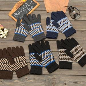 ゴルフ グローブ メンズ 手袋 両手用手袋 保温 毛糸 厚手 秋冬 裏起毛 A-K70|golfhands