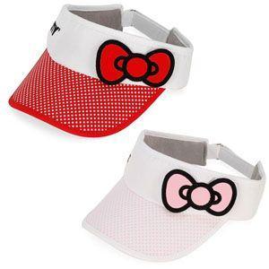 ゴルフ 帽子 バイザー ハローキティ ボウ バイザー (全2色) HK204/HK205|golfhands