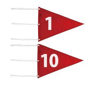 ゴルフ コース用品 ライト M-110 ナイロン 三角旗 番手付 (サイズ:350×460mm) M-110|golfhands