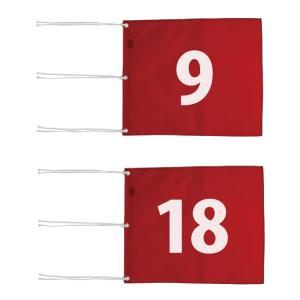 ゴルフ コース用品 ライト M-111 ナイロン 四角旗 番手付 (サイズ:340×420mm) M-111|golfhands