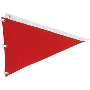 ゴルフ コース用品 ライト M-121 ナイロン 無地 三角旗 M-121|golfhands