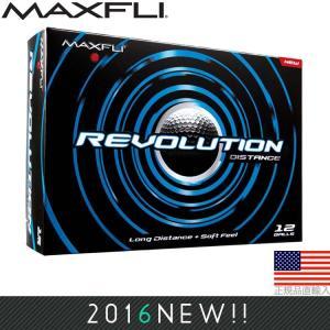 マックスフライ Maxfli レボリューション ディスタンス ゴルフボール (12個入) MXB0010|golfhands