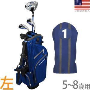 【送料無料】 パワービルト POWER BILT Boys' ジュニア用 スターターセット (5〜8歳用) (左打用) (ブルー) PBJR-Blue|golfhands
