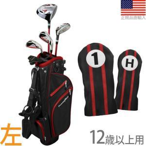 【送料無料】 パワービルト POWER BILT Boys' ジュニア用 スターターセット (12歳以上用) (左打用)(レッド) PBJR-Red|golfhands