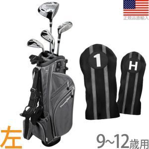 【送料無料】 パワービルト POWER BILT Boys' ジュニア用 スターターセット (9〜12歳用) (左打用) (シルバー)  PBJR-Silver|golfhands